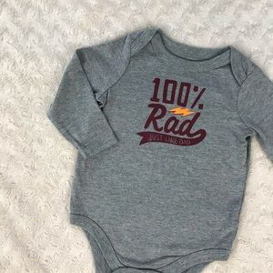 Circo 100% Rad Just Like Dad Bodysuit Shirt